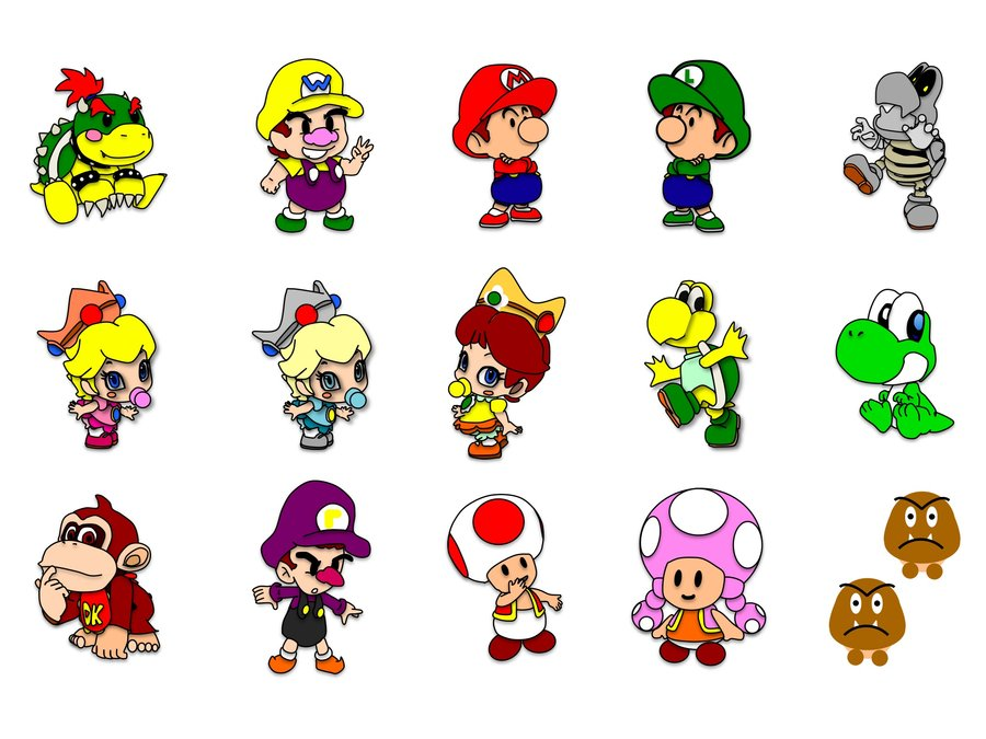 900x675 Baby Mario And Friends By 13wildrose