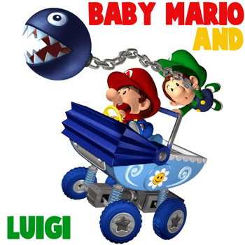 350x350 How To Draw Baby Mario And Luigi Team Riding Baby Stroller