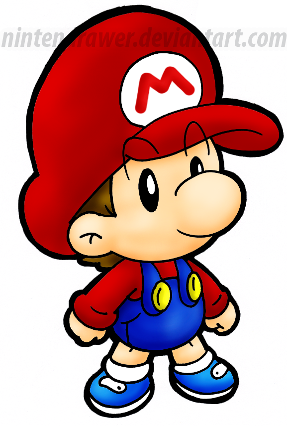 577x855 Baby Mario By Nintendrawer