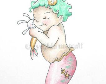 340x270 Fantasy Nursery Decor Original Pegasus Painting Baby Pegasus