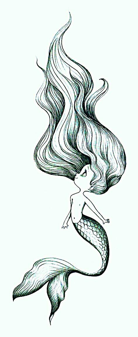 472x1147 Sereinha 02 Artes Mermaid, Drawings