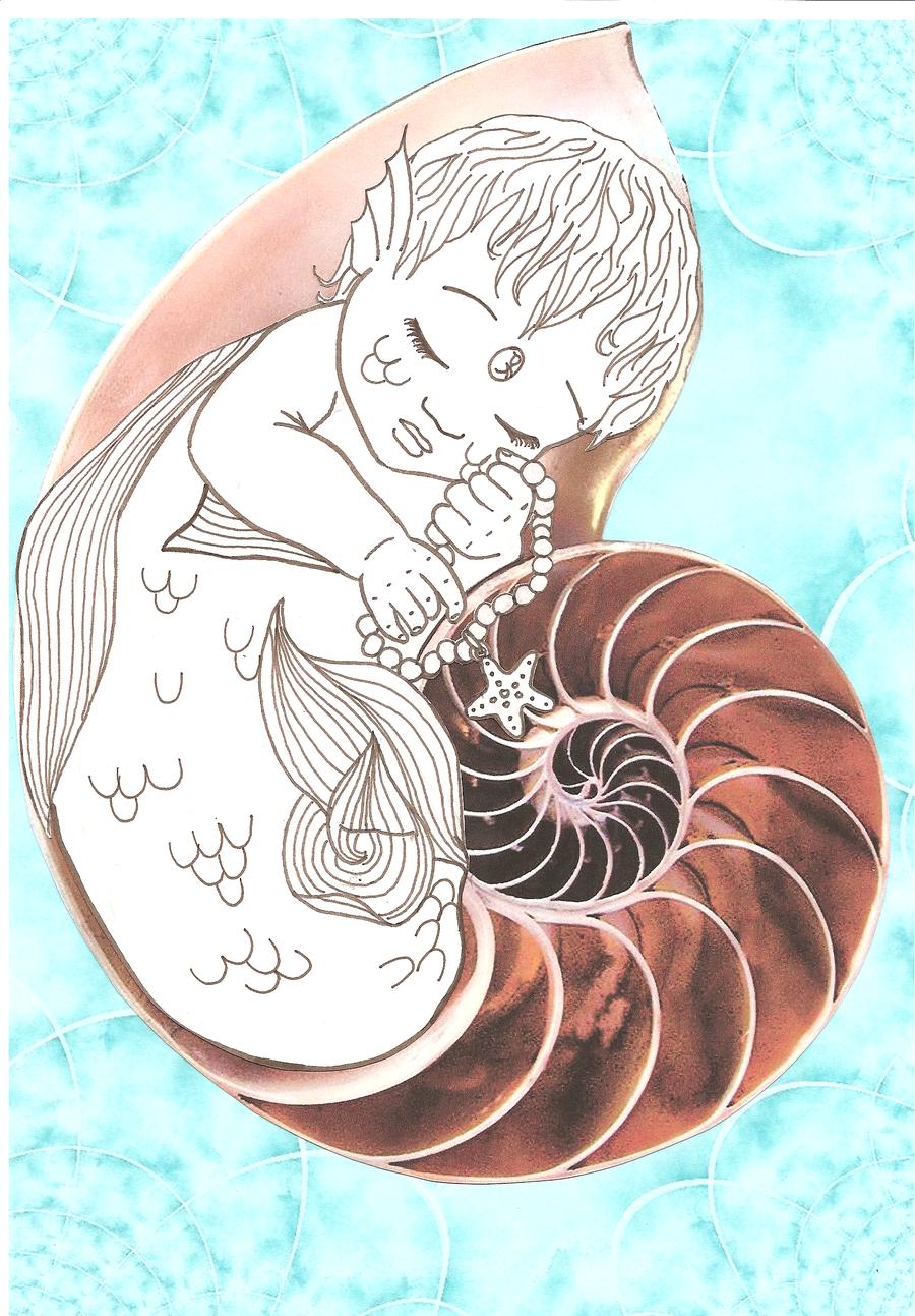 900x1293 Baby Mermaid By Beryl Thanh