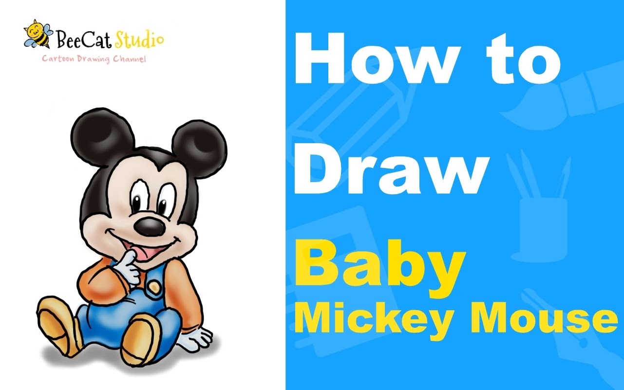 1281x801 How To Draw Baby Mickey Mouse