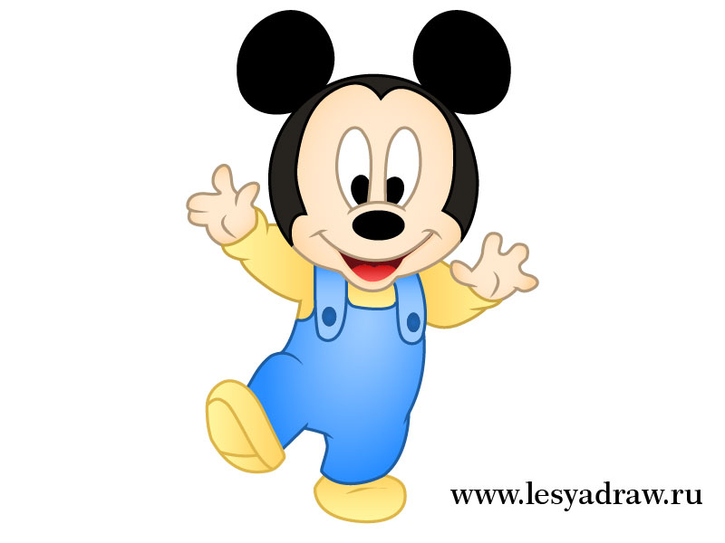 800x600 How To Draw Little Mickey Mouse