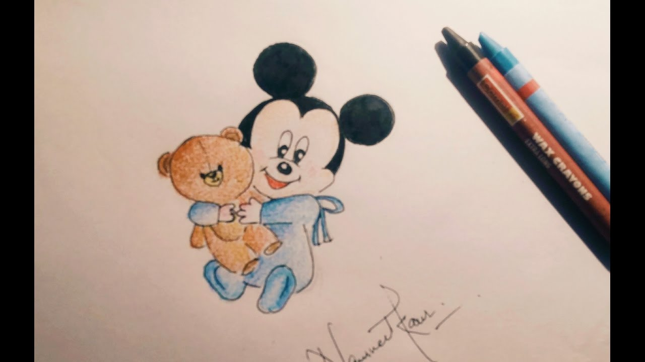 1280x720 How To Draw Baby Mickey Mouse Tutorial [Easy ]
