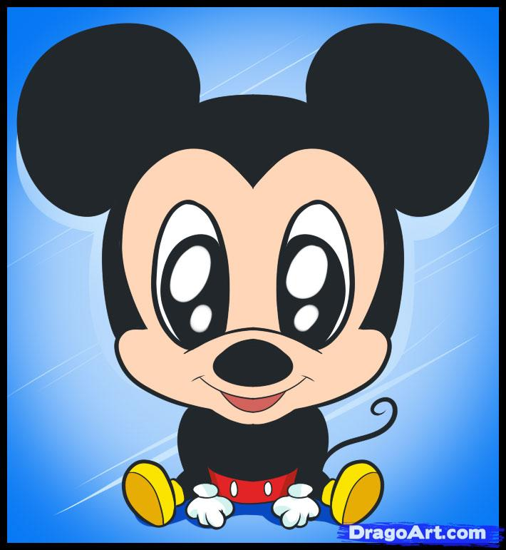 710x771 How To Draw Chibi Mickey Drawing Anime Style