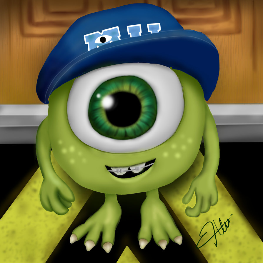 894x894 Baby Mike Wazowski (Digital Art) Ximena Roldan By Ximenaroldan