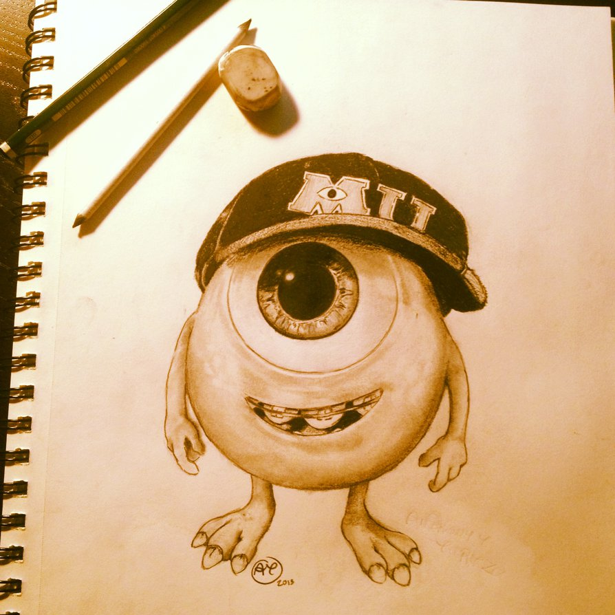 894x894 Baby Mike Wazowski By Anthonyturtzo
