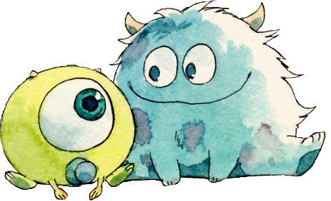472x286 Drawing Of Mike Wazowski And Sullivan Stickers By Spicetalk