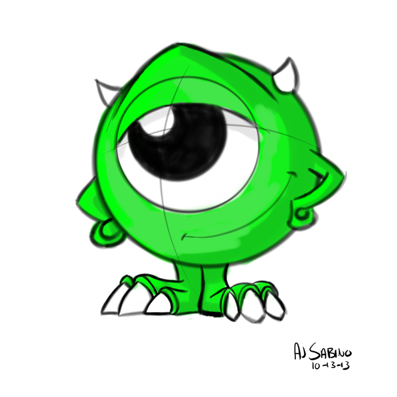 800x800 Mini Mike Wazowski By Ajsabino