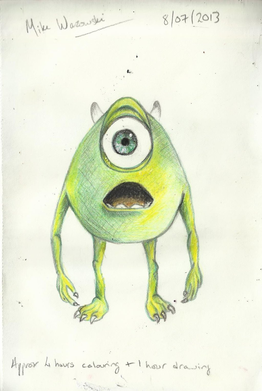 1024x1528 Wazowski Drawing By Crackerjackcrafts