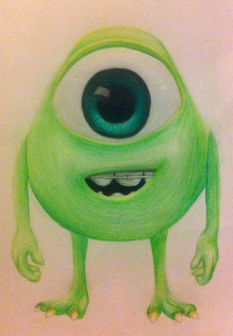 743x1074 Young Mike Wazowski By Xxcharlotteoxx