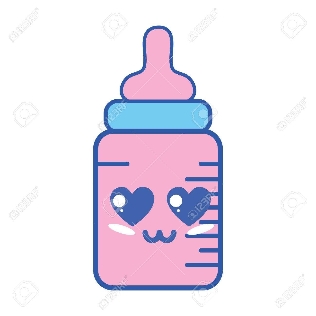 1300x1300 A Kawaii In Love Emotion Cute Feeding Bottle With Character