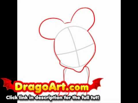 480x360 How To Draw Baby Minnie Mouse, Step By Step