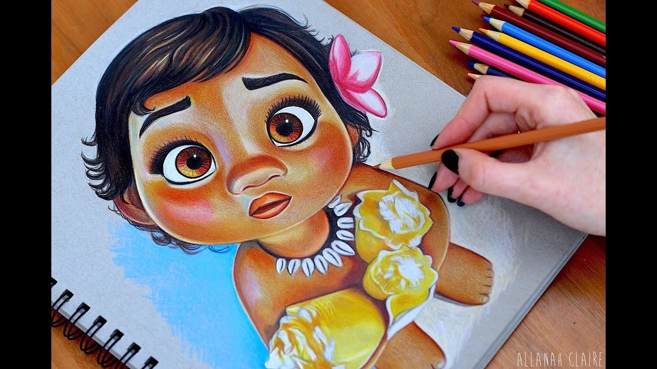 1280x720 Baby Moana Drawing