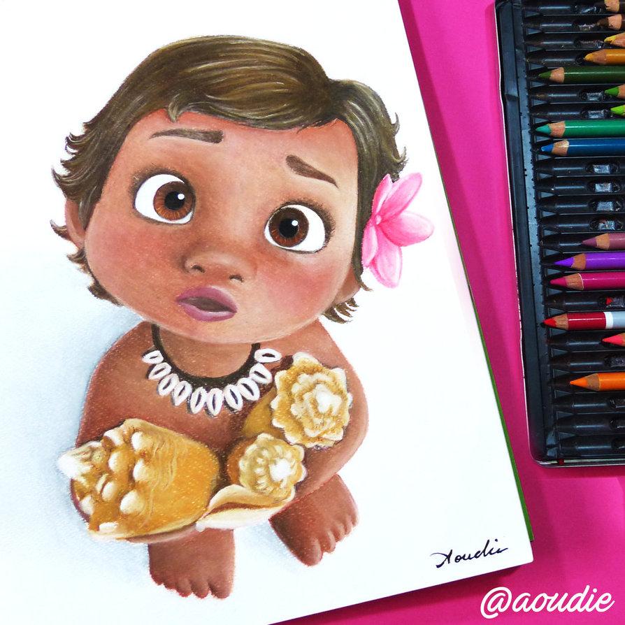 894x894 Baby Moana, (Disney) By Aoudie