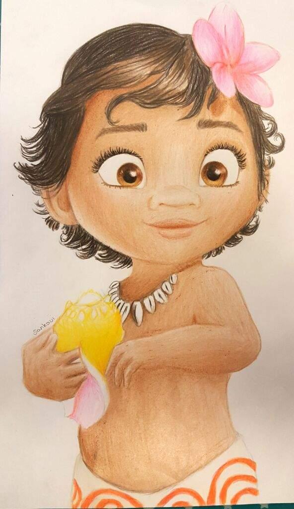 592x1024 Baby Moana Drawing Cartoon Amino Art Moana