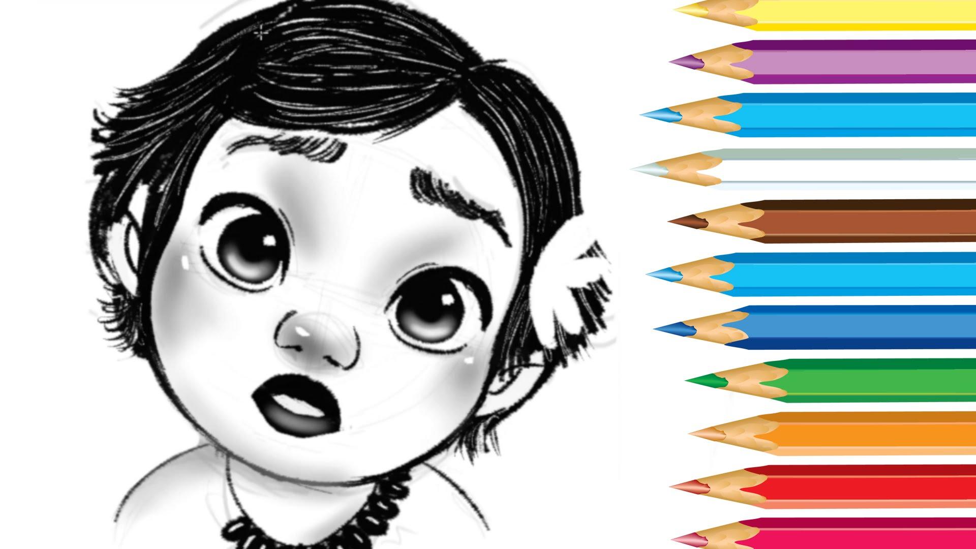 1920x1080 How To Draw Baby Moana