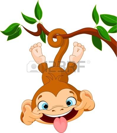 396x450 Cute Baby Monkey Hamming Auf Einem Baum Perfekt April Fools