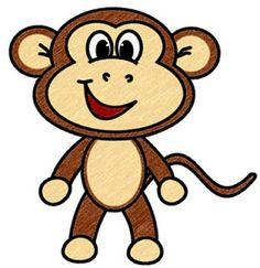 236x243 How To Draw A Baby Monkey How To Draw Cartoons Drawings