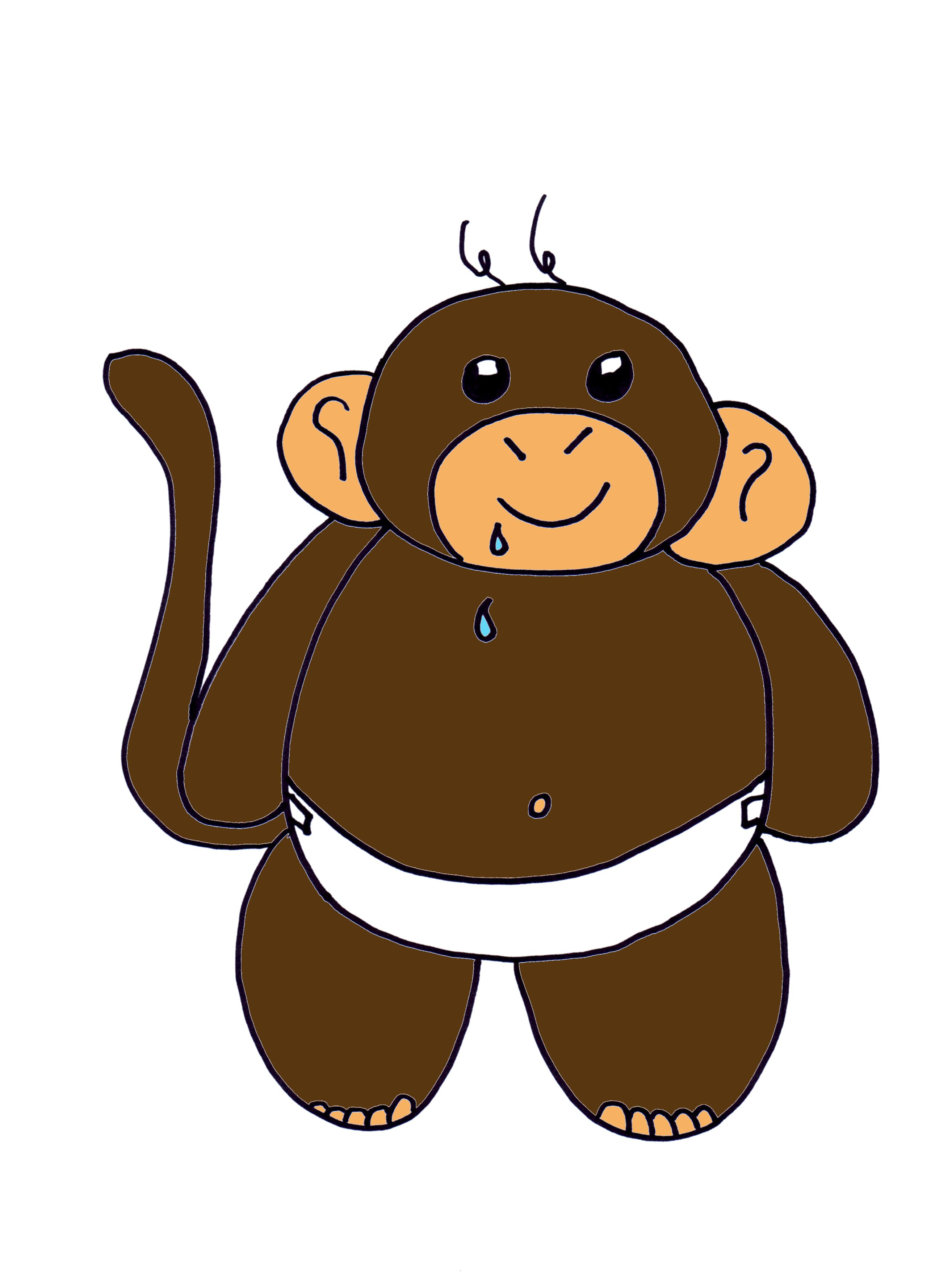2629x3529 How To Draw A Cartoon Baby Monkey Art Questions Answered