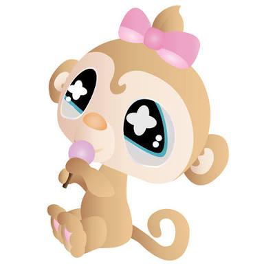 384x384 Cute Monkey Illustrations