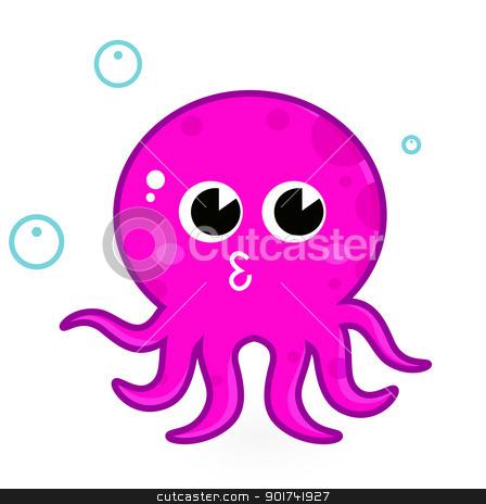 448x464 Cute Cartoon Sea Octopus Cute Baby Octopus Clipart Cartoon