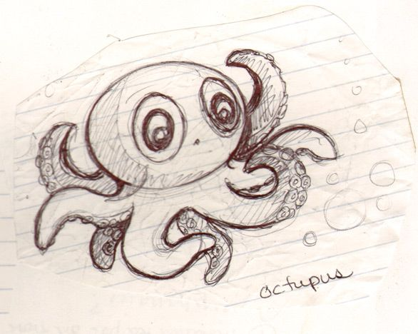 586x468 Cute Octopus Baby Octopus Tattoo And Tatting