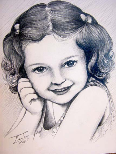 Beautiful Pencil Sketches Of Baby Girl