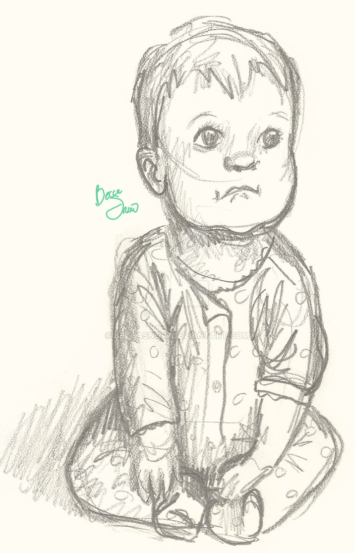 sketches of baby