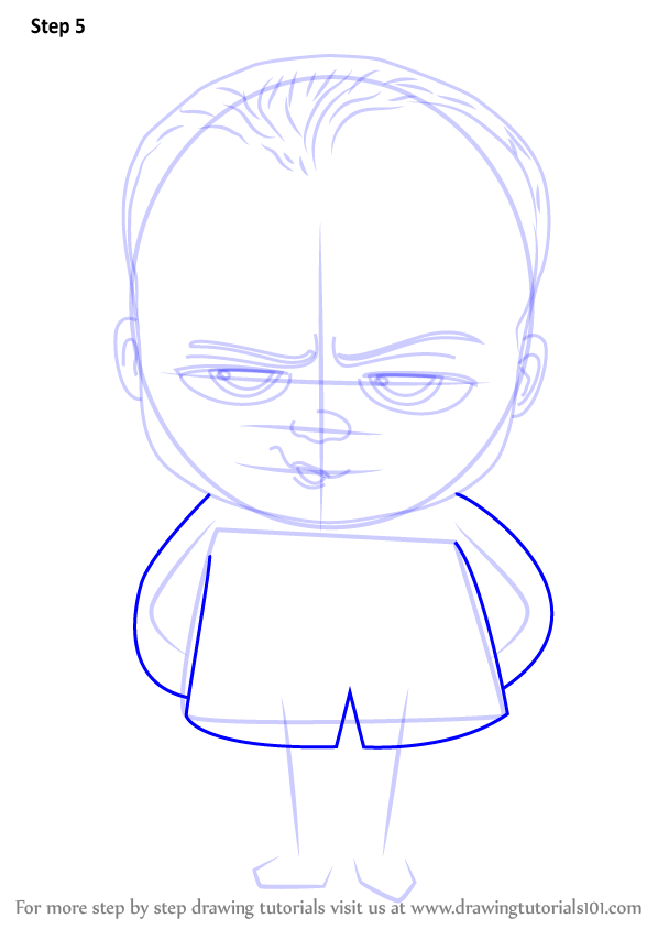 598x844 Learn How To Draw Baby Boss From The Boss Baby (The Boss Baby