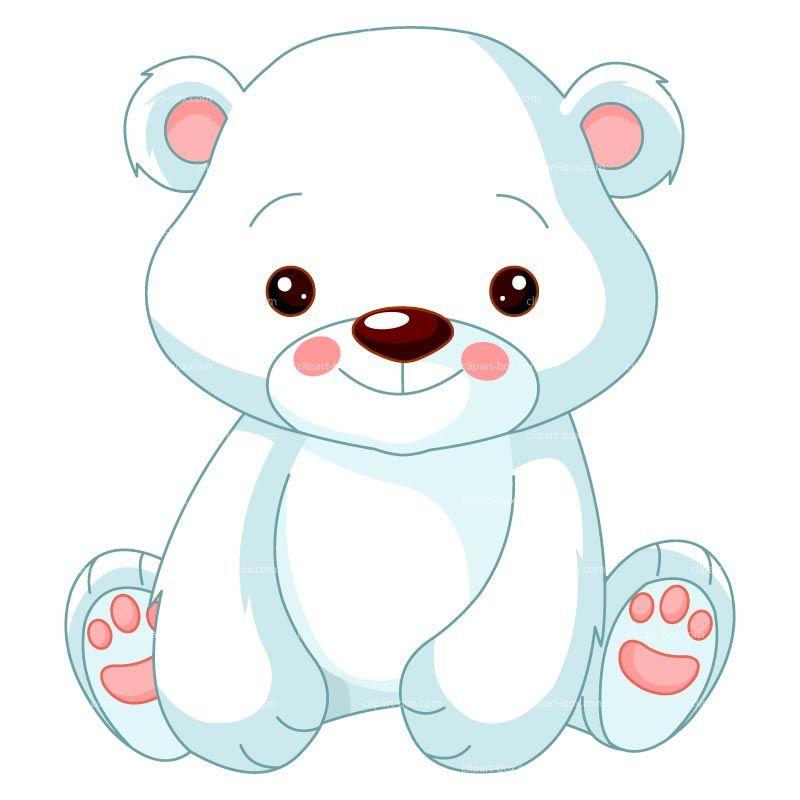 800x800 Clipart Baby Polar Bear Royalty Free Vector Design