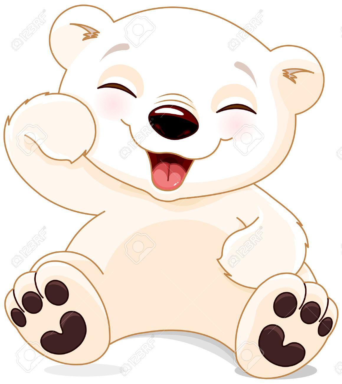 1159x1300 Cute Polar Bear Drawing Illustration Of Cute Polar Bear Is