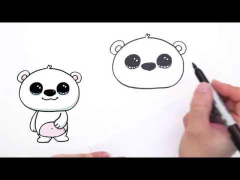 480x360 How To Draw A Polar Bear Cute And Easy