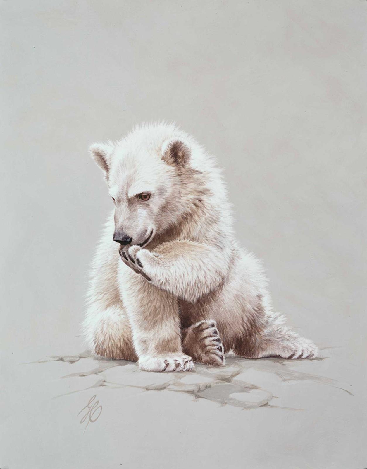 1255x1600 Small Game Paintings Baby Polar Bear