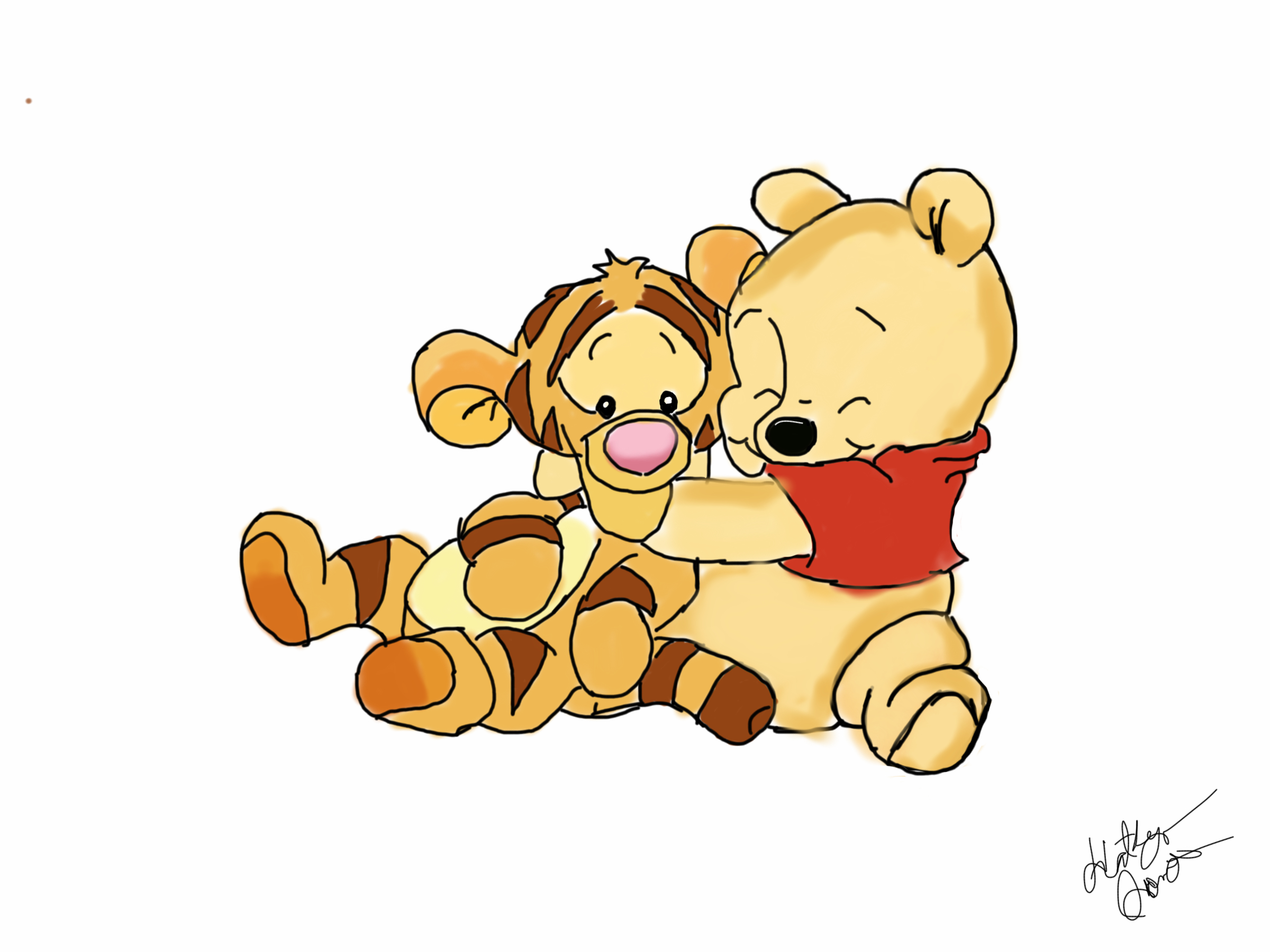 baby pooh drawing at getdrawings | free for personal use baby