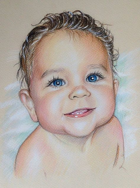 474x636 8x12 Custom Portrait, Baby Portrait, Gift, , Pencil Portrait