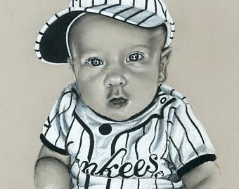 340x270 Custom Baby Portrait Custom Portrait Drawing Drawing