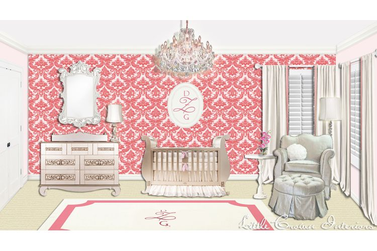750x500 Photos Of Girl's Nursery Interior Design Drawing By The Interior