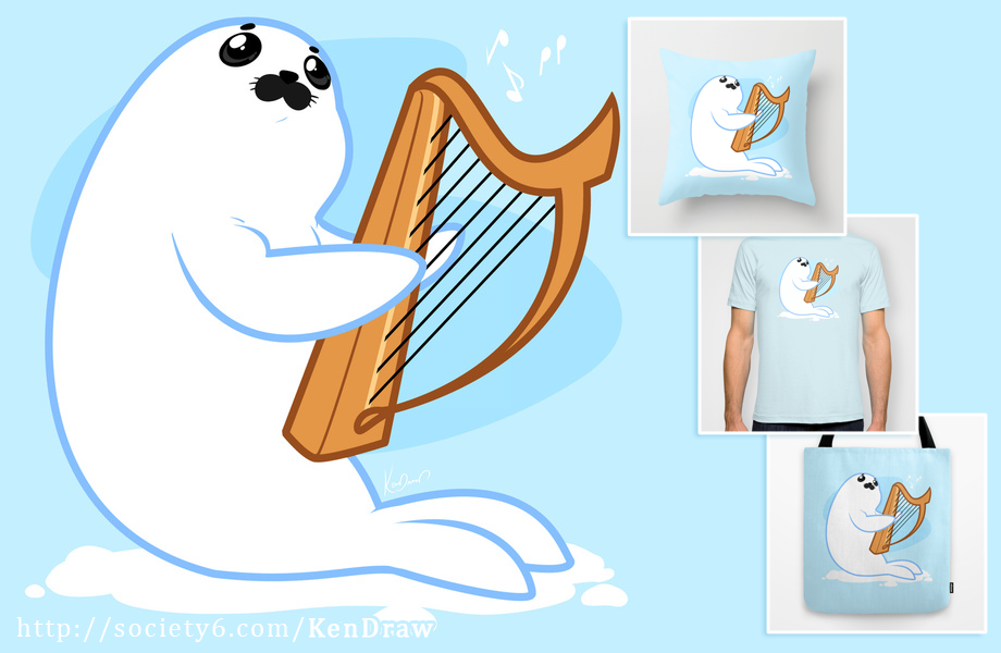 920x600 5102014 Baby Harp Seal By Kendraw