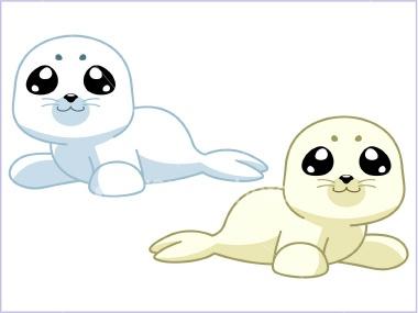 380x285 Cute Seal Art