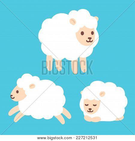 450x470 Cute Cartoon Baby Sheep Drawing Vector Amp Photo Bigstock