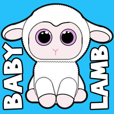 400x400 How To Draw Baby Lamb With Easy Step By Step Drawing Tutorial