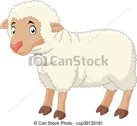 450x413 Vector Illustration Of Baby Sheep Cartoon Vector