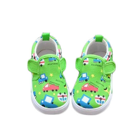 456x456 Colored Drawing Car Cartoon Child Canvas Shoes Kids Sneakers