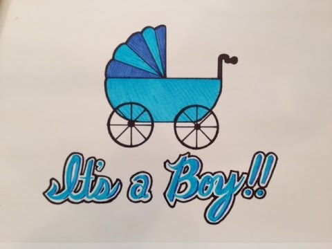 480x360 How To Draw It's A Boy For Baby Shower