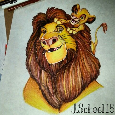 480x480 My Baby Simba And Mufasa Drawing My Disney Drawings And Sketches
