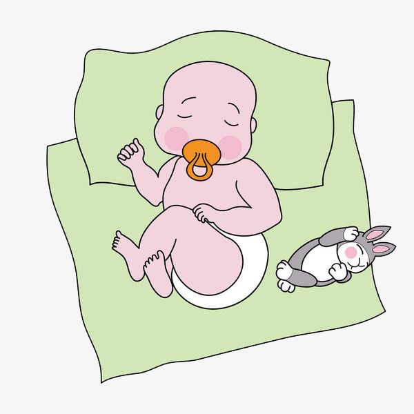 600x600 Baby Sleeping On The Carpet, Baby, Child, Cartoon Hand Drawing Png