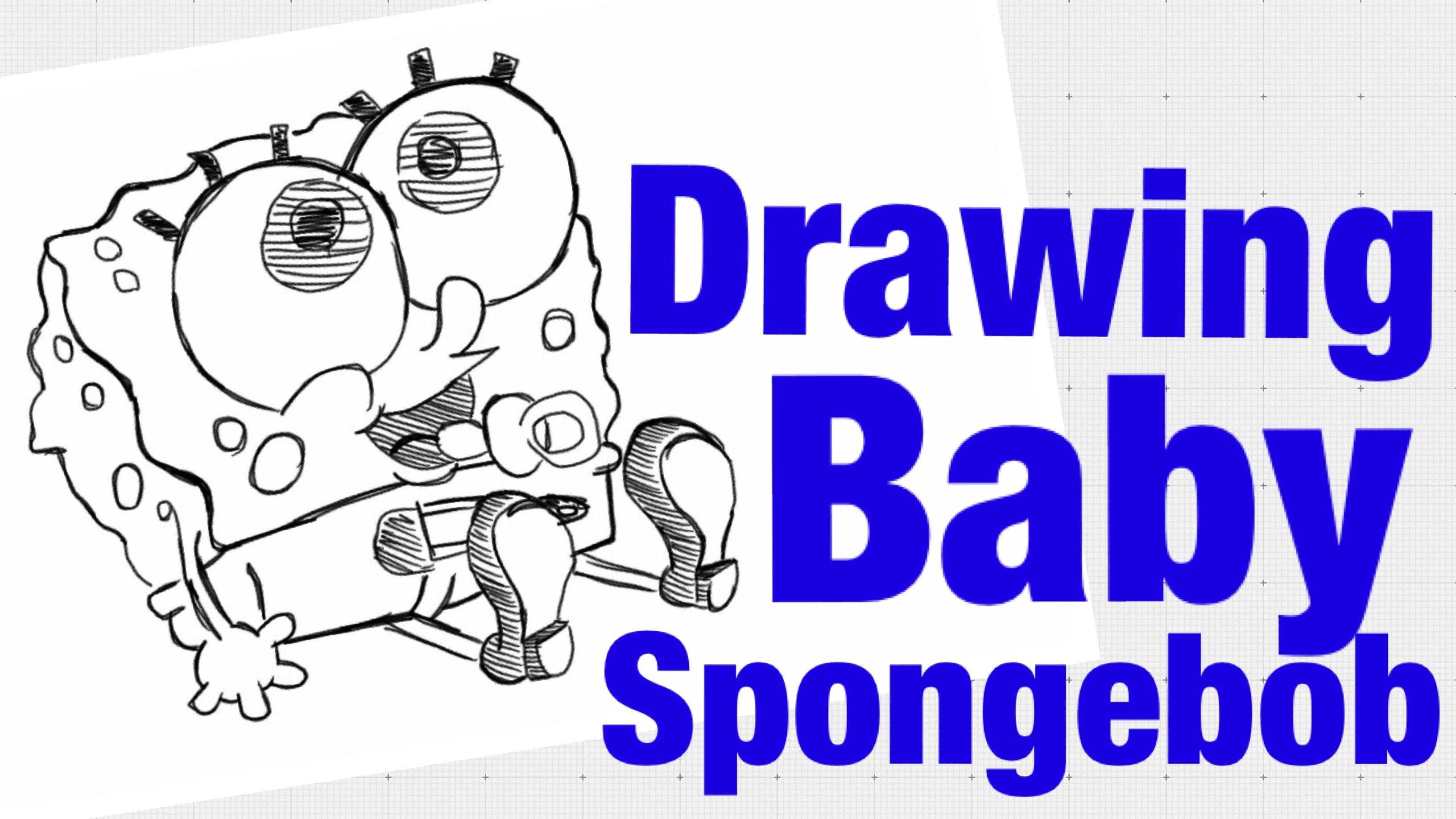 3264x1836 How To Draw Baby Spongebob