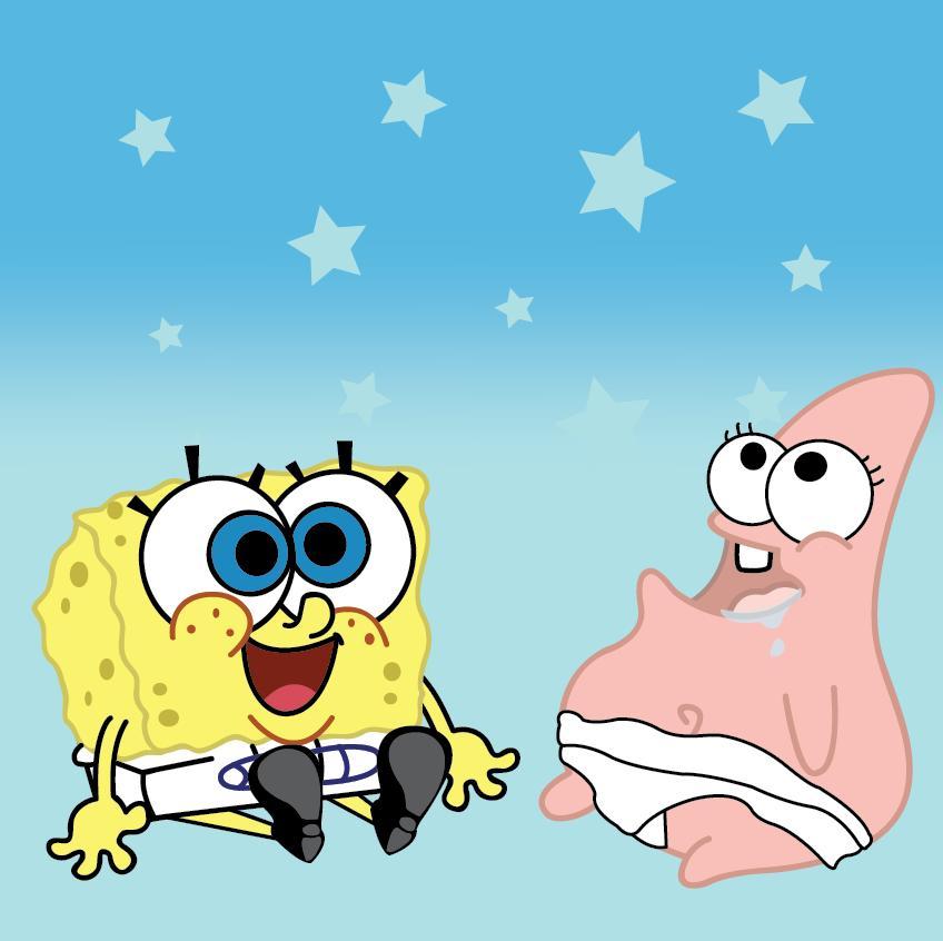 848x846 Baby Spongebob And Patrick By